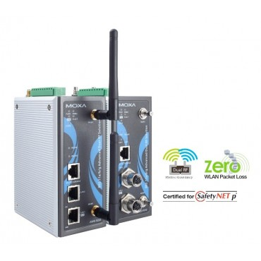 AWK-5222 Series MOXA Industrial IEEE 802.11a/b/g Dual-Radio Wireless AP/Bridge/Client