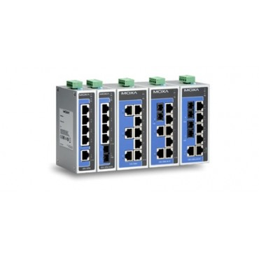 EDS-205A/208A Series MOXA 5 and 8-port unmanaged Ethernet switches
