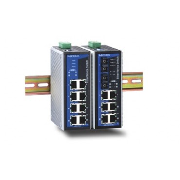 EDS-P308 Series Moxa 8-port unmanaged Ethernet switches with 4 IEEE 802.3af PoE ports