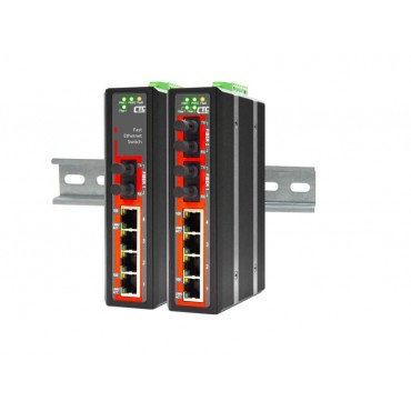 IFS-402F CTC Union 4x port 10/100Base-TX + 2x port Fiber 100Base-FX Industrial Fast Ethernet Switch