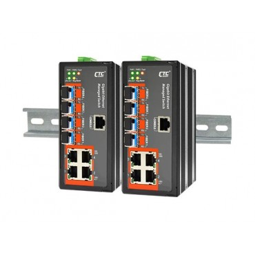 IGS-404SM CTC Union 4x port 10/100/1000Base-T+ 4x port 100/1000Base-X SFP Slot Industrial Layer 2 Managed Switch