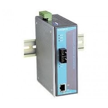 IMC-101-M-SC Moxa Ethernet to Fiber media converter, 10/100BTX to 100BFX w/multi-mode SC Connector