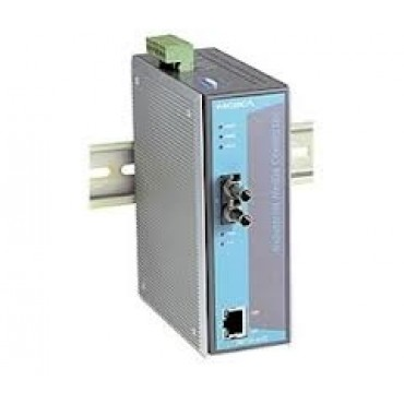 IMC-101-M-ST Moxa Ethernet to Fiber media converter, 10/100BTX to 100BFX w/multi-mode ST Connector