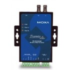 TCF-142-M-ST MOXA RS-232/422/485 to multi-mode optical fiber media converter with fiber ring support and ST connector