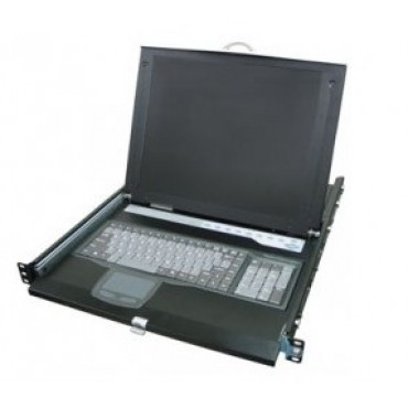 """HKV-10 Rextron LCD 15"""" with KVM Switch 16 port"""