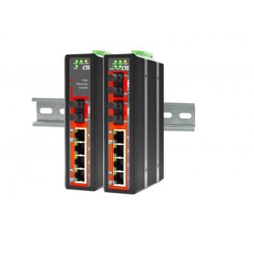 IFS-402F CTC Union 4x port 10/100Base-TX + 2x port Fiber 100Base-FX Industrial Fast Ethernet Switch