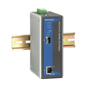 IMC-101G MOXA Industrial 10/100/1000BaseT(X) to 1000BaseSX/LX/LHX/ZX media converter Gigabit