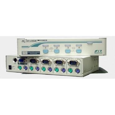KNV-104 REXTRON PS/2 KVM Switch 4 port (Rackmount)