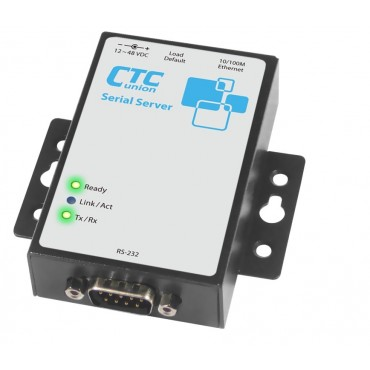 STE100A-Serial CTC union 1 port RS-232/422/485 IP Serial Device Server